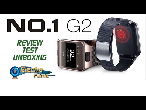 No1 G2 Review: Test And Unboxing - Tutorial Synchronisation Smartwatch No1 G2 video