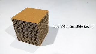 How to make invisible lock puzzle box From Cardboard
