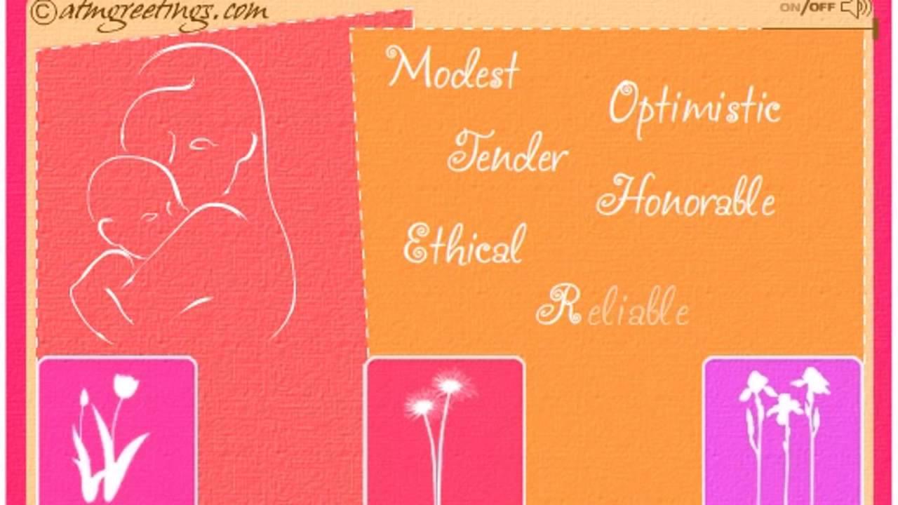 Happy Birthday Mom Mother Ecard Greeting Card 07 06 Youtube