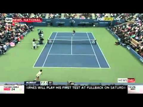 Andy Murray DEFEATS Novak Djokovic - US Open 2012 - First Grand Slam