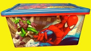 BOX OF TOYS - What's in the box  !!!???? Surprise Toys super heroes