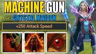 Machine Gun Rylai  [Fiery Soul + Warpath + Feast + 250 Attack speed] Dota 2 Ability Draft