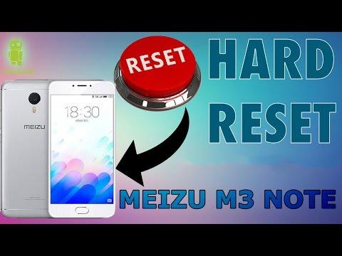 Hard Reset al Meizu M3 Note - restablecer modo fábrica, formatear