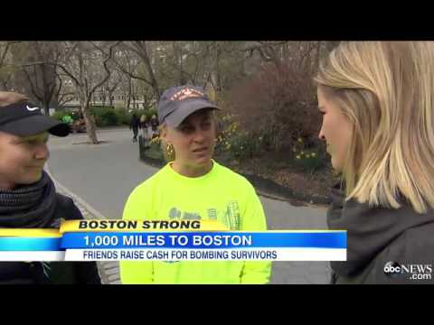 Group Raises Money By Running to the Boston Marathon Video