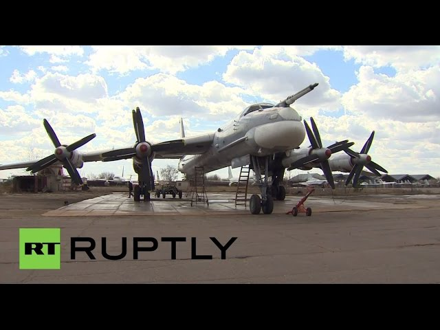 Russia: This Tupolev TU-95MS Cold War bomber has served for over 50 years