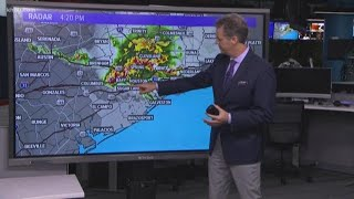 Team coverage: Severe thunderstorm races through Houston area with hail, high winds