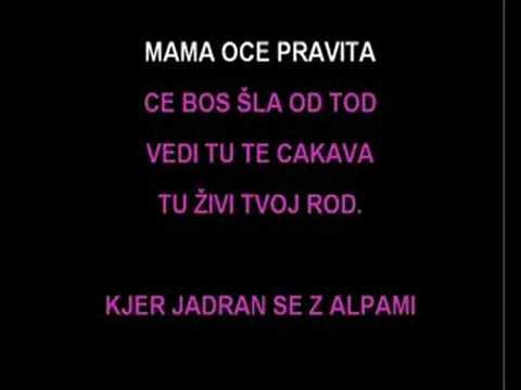 Karaoke - Klara - Za Slovenijo živim video