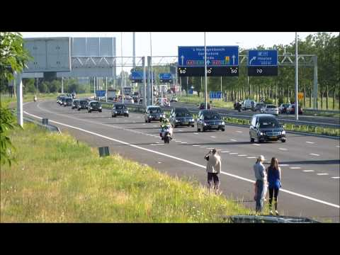 Impressive funeral procession of the victems of flight MH17 through The Netherlands