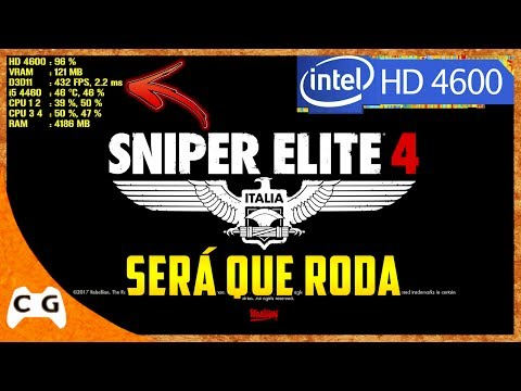 Sniper Elite 4 Gameplay Teste Intel HD Graphics