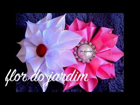 Цветочки и бантики из ленточек  видео