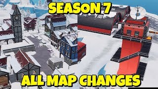 ALL NEW LOCATIONS + MAP CHANGES IN SEASON 7 FORTNITE