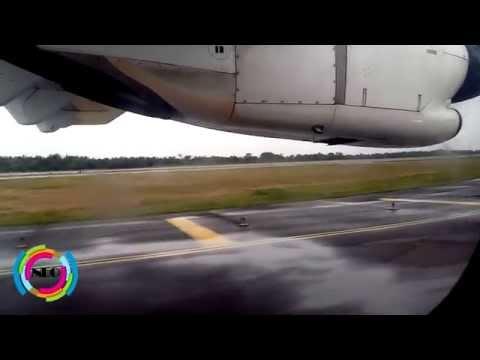 Jet Airways flight landing at Cochin International Airport