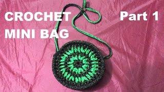 How to Crochet mini bag part 1 - Hướng dẫn móc túi mini (P1)