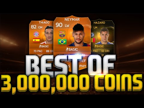 MOTM NEYMAR PACK OPENING BEST OF 3,000,000 COINS FIFA 15 ULTIMATE TEAM