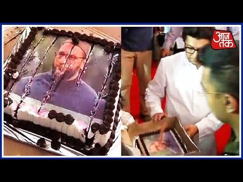 Khabare Superfast: Raj Thackeray Cuts Cake With Owaisi's Photo And More