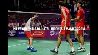 Badminton Highlights (Kevin Sanjaya/Marcus Gideon) vs (Li Jun Hui/Liu Yuchen)
