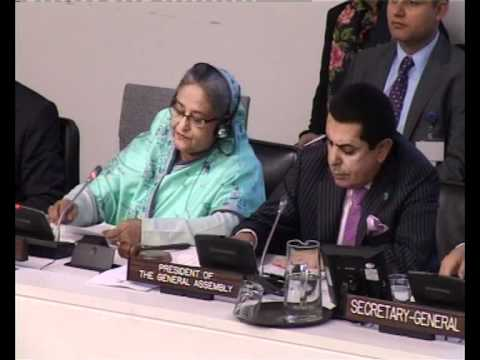 Bangladesh Prime Minister Sheikh Hasina in UN NEW YORK SEP 19, 2011
