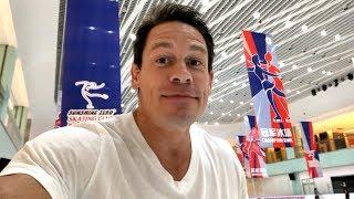 John Cena in China: Ice skating in Yinchuan