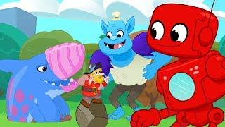 Giant Friends Golf & Big Creatures (Robot, Mountain Giant, Earthshark, Monster, Dinosaurs) for Kids!