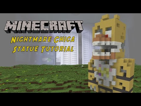 Minecraft Tutorial: Nightmare Chica (Five Nights At Freddy's 4) Statue