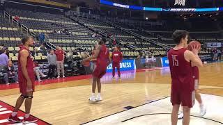 Collin Sexton, Donta Hall practice with Alabama basketball at NCAA tournament