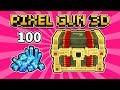 WHAT DO YOU GET FROM 100 GEMS Pixel Gun 3D Lucky Chest Opening mp3