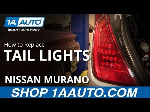 How To Install Replace Broken Taillight Nissan Murano 03-07 1Auto.com