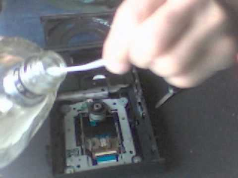 How To Clean A DVD Burner Laser (very cheap and easy)