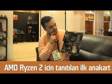 AMD Ryzen 2 için ilk anakart mercek altında