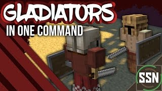Minecraft - AI FIGHTING MINIONS | Gladiators [Two Commands]