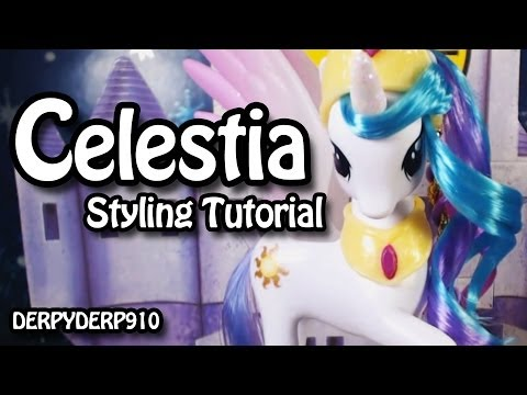 My Little Pony:  Princess Celestia Hair Styling Tutorial