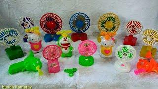 Collection of fan and propeller toys - Bộ sưu tập quạt và cánh quạt đồ chơi