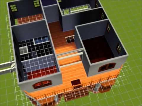 Construccion casa unifamiliar de dos plantas en los sims 3 for Construccion de chimeneas para casas