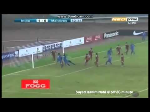 Nehru Cup 2012 ● India 3-0 Maldives ● Goals