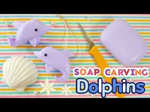 SOAP CARVING | Dolphins | Easy |Tutorial | ASMR | DIY | Satisfying |