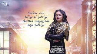 Angreji Wali Madam Song | Audio Poster 2 | Kulwinder Billa | Releasing 10 Jan