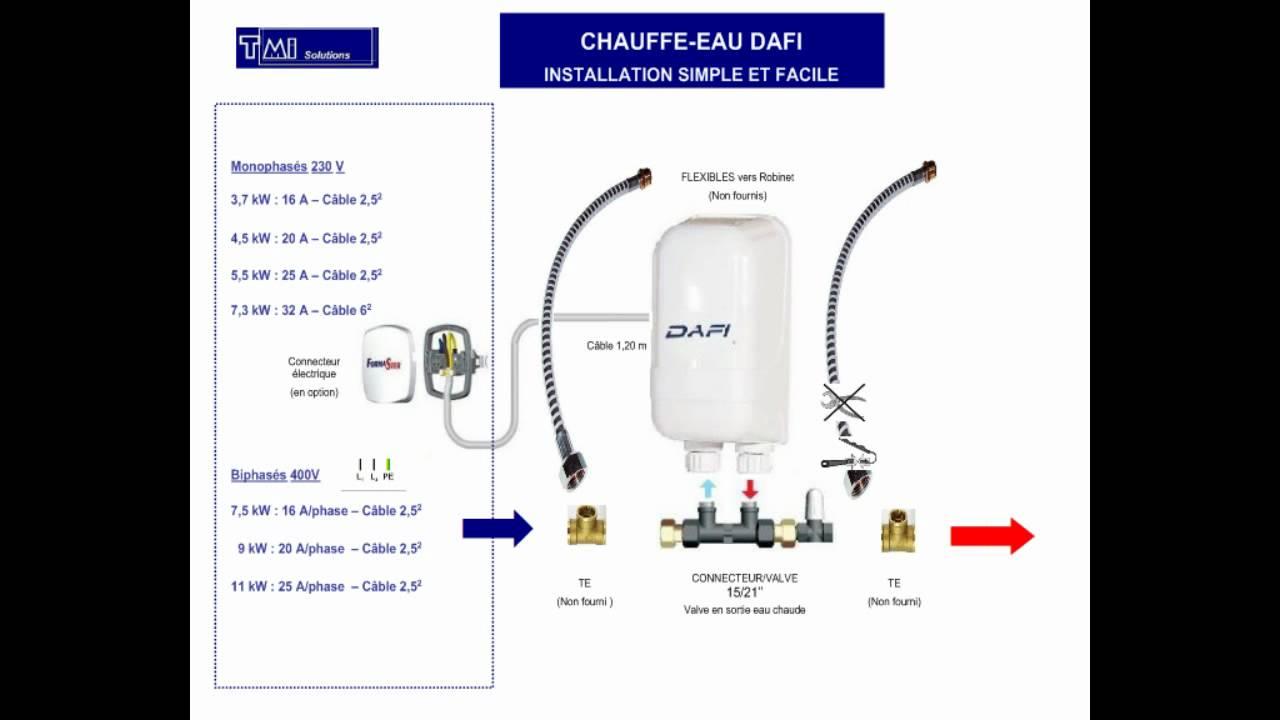 Tmis installation chauffe eau dafi d c youtube - Chauffe eau economique electrique ...