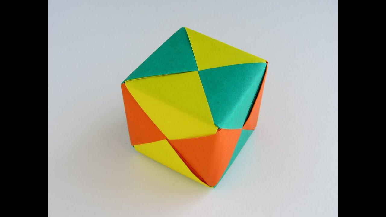 origami modular sonobe cube youtube. Black Bedroom Furniture Sets. Home Design Ideas