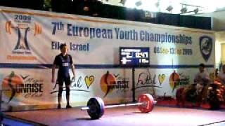 Mike Clean and Jerk 115 Kg @ 1st European Youth Weightlifting Championships 2009