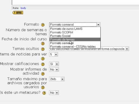 Como Crear un Curso en Moodle.wmv
