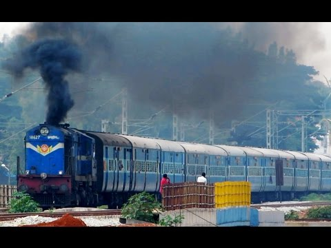 Back to Back Action - Smoking ALCO with Okha Tuticorin Express and Bullet DEMU