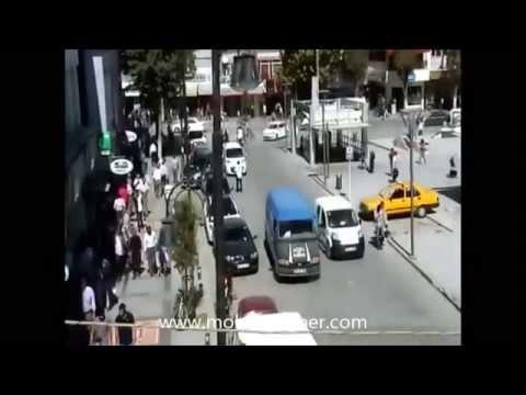 Malatyada mobese kameraları kazalar
