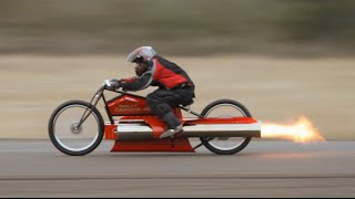Bob Maddox Pulsejet engine Motorcycle !