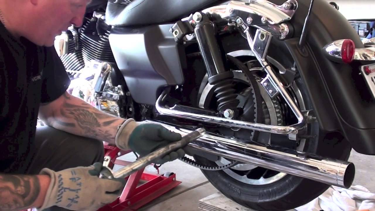Mini Cooper Sportster >> How to remove install rear wheel tire of Harley Davidson Motorcycle; Law Abiding Biker Podcast ...