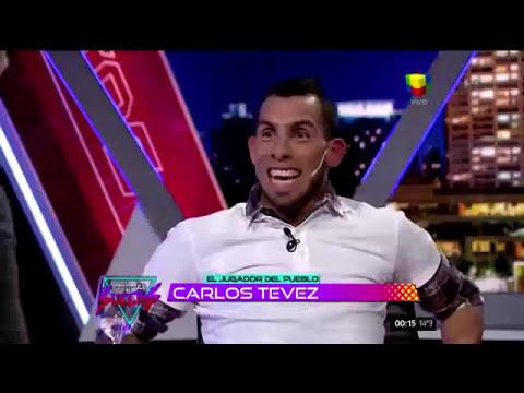 Carlos Tevez con Alejandro Fantino
