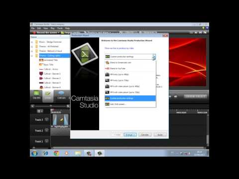 Como converter formatos de videos feitos pelo Camtasia Studio 8