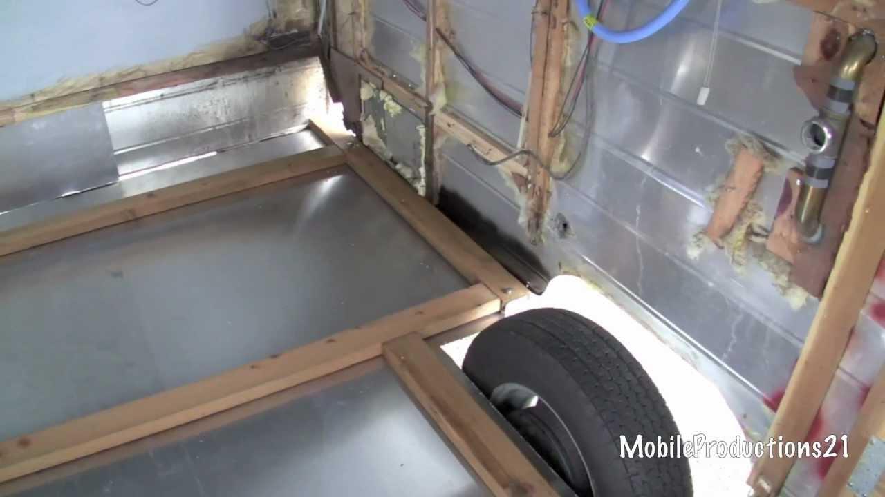 Travel Trailer Floor Replacement (2-4) - YouTube