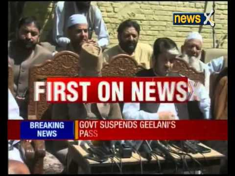 Jammu and Kashmir separatist leader Syed Ali Shah Geelani's passport suspended