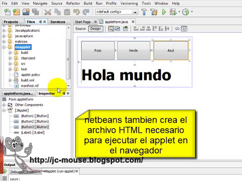 Tutorial Java: Applet con Netbeans