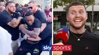 Behzinga & Eddie Hearn react to Viddal Riley & Shannon Briggs' HEATED clash | KSI vs Logan Paul 2